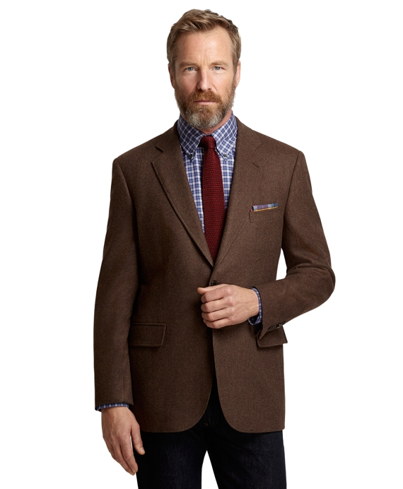 Madison Fit Brown Twill Sport Coat Brown