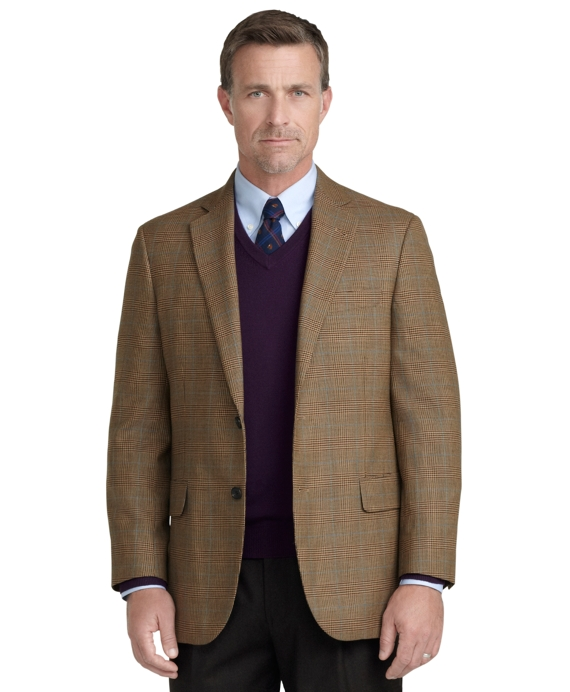 Madison Fit Glen Plaid with Deco Sport Coat Tan