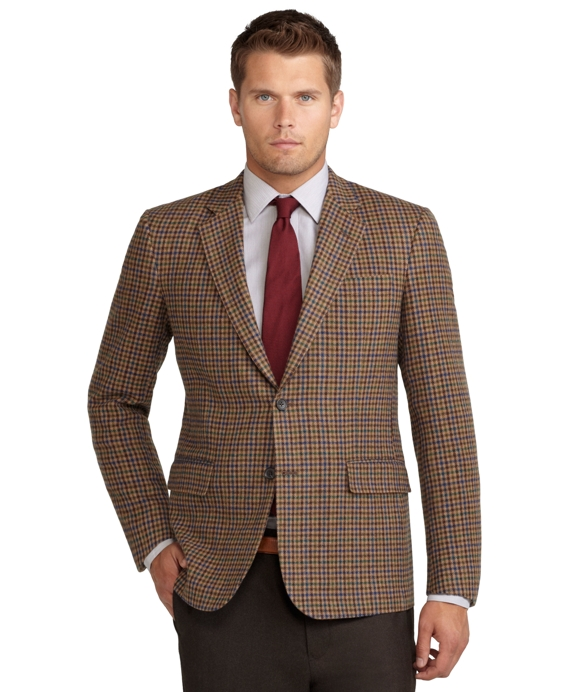 Madison Fit District Check Sport Coat Tan