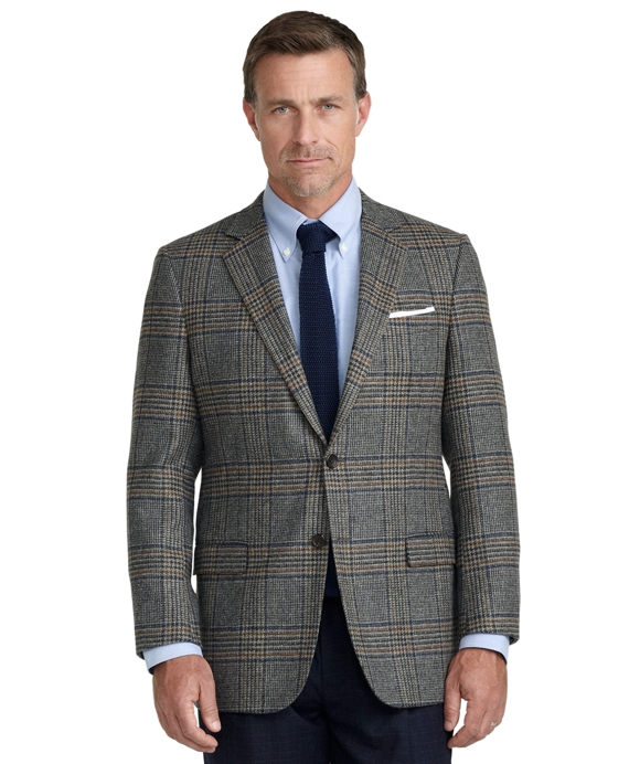 Fitzgerald Fit Large Plaid Sport Coat Blue-Grey