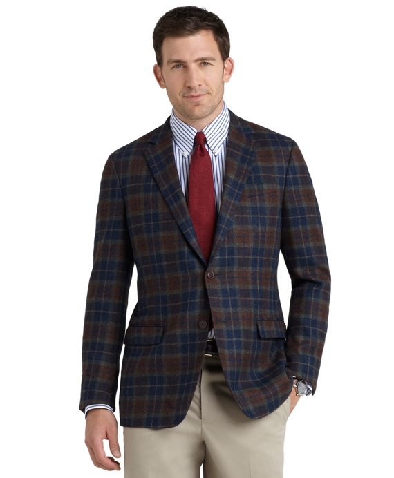 Fitzgerald Fit Tartan Sport Coat Navy-Green