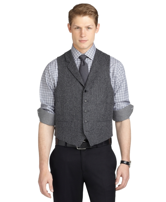 Herringbone Vest Grey