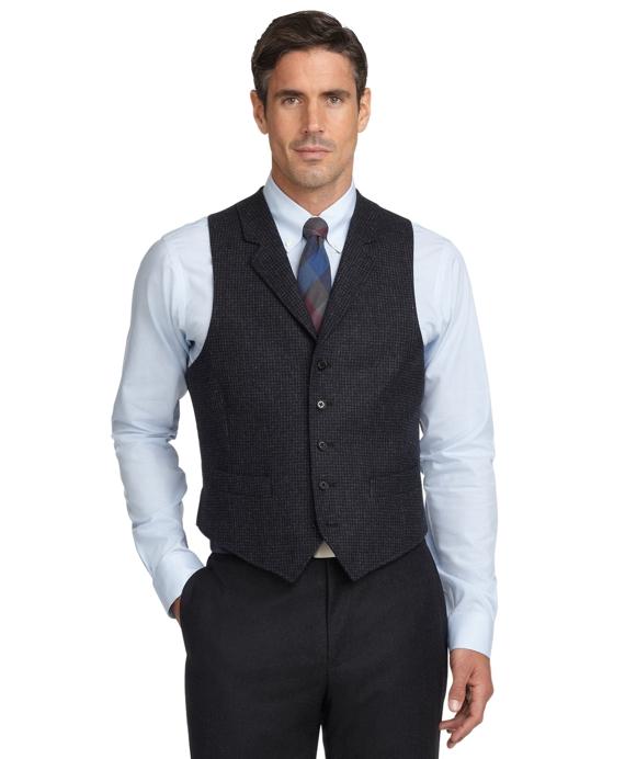 Mini Houndstooth Vest Grey