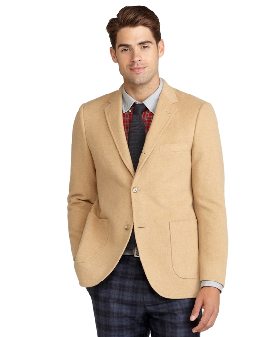 Cambridge Camel Hair Patch Pocket Jacket Tan