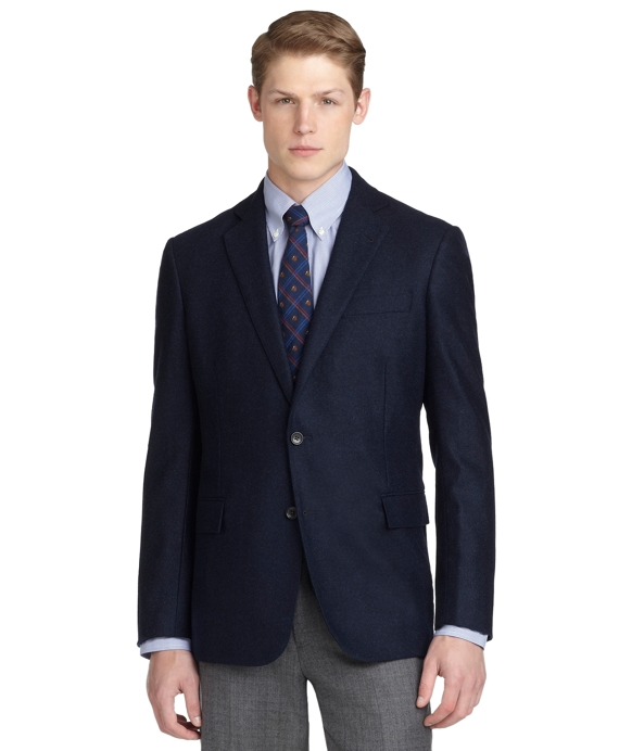 Regent Fit Two-Button Double Face Blazer Navy