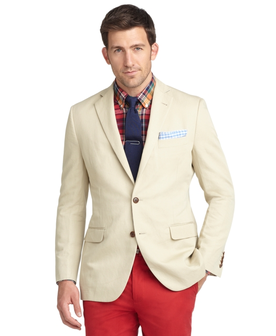 Fitzgerald Fit Cotton Linen Sport Coat Tan