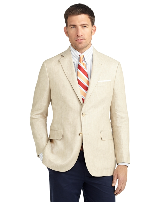 Madison Fit Two-Button Linen Sport Coat Tan