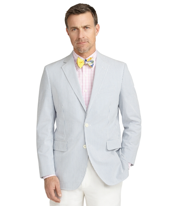 Madison Fit Seersucker Sport Coat Blue