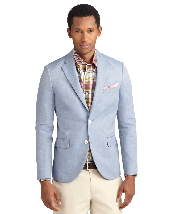 Milano Fit Two-Button Double-Face Sport Coat Grey-Blue