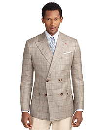 Regent Fit Double-Breasted Windowpane Sport Coat