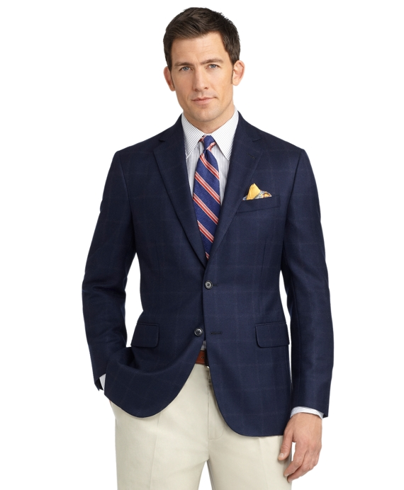 Fitzgerald Fit Windowpane Sport Coat Navy