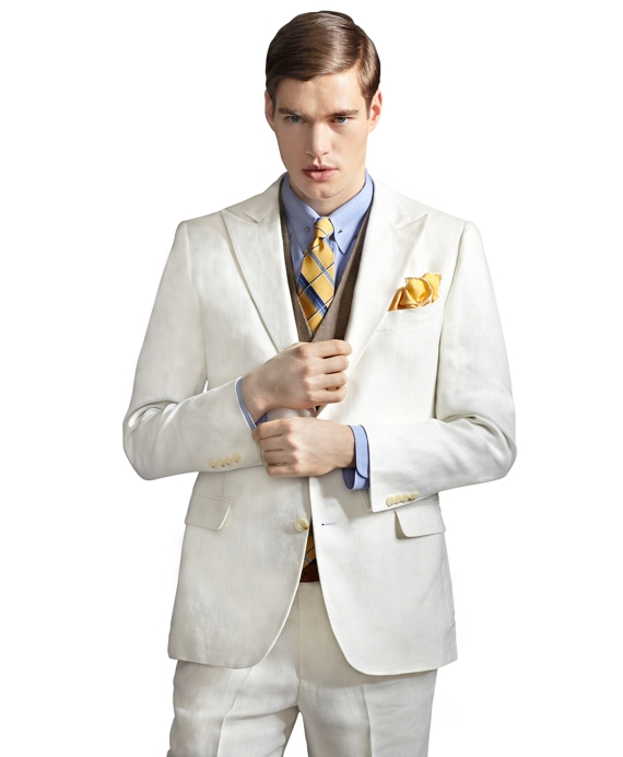 The Great Gatsby Collection Ivory Linen Jacket Ivory