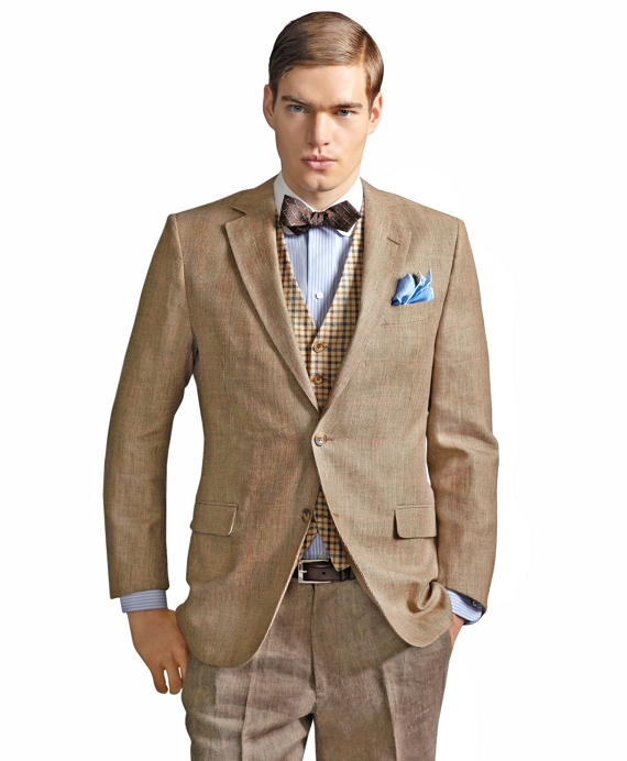 The Great Gatsby Collection Wool and Linen Jacket Khaki