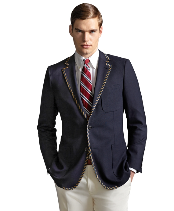 The Great Gatsby Collection Tipped Blazer Navy