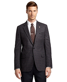 Fitzgerald Fit Burgundy Check Saxxon Wool Sport Coat