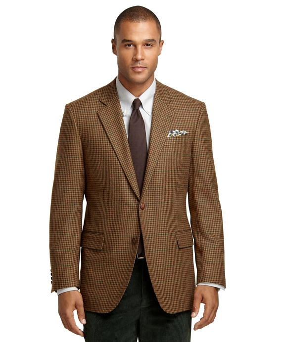 Madison Fit Brown Check with Deco Sport Coat Tan