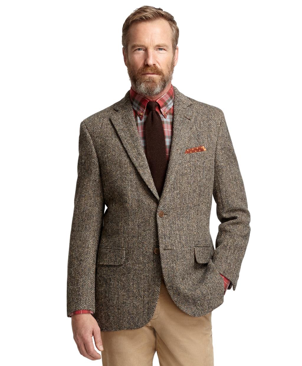Madison Fit Harris Tweed Herringbone Sport Coat - Brooks Brothers