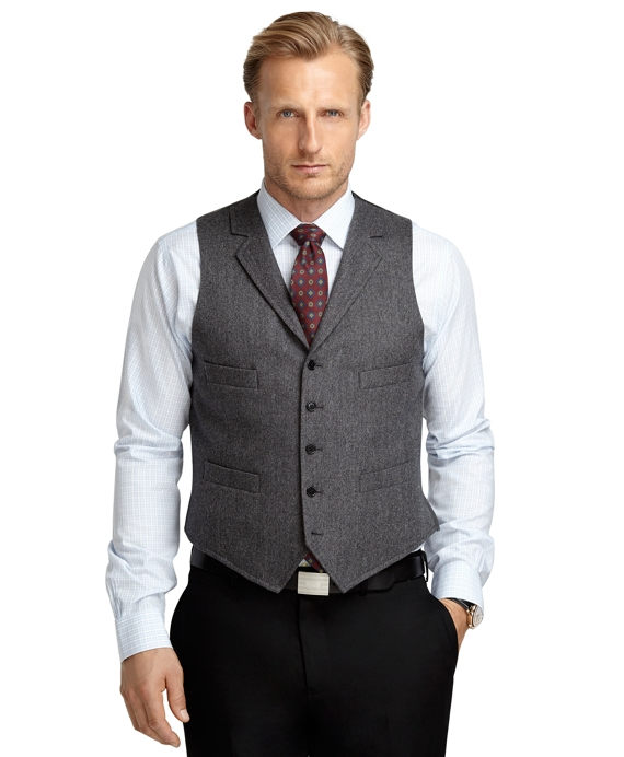 Donegal Tweed Vest Grey