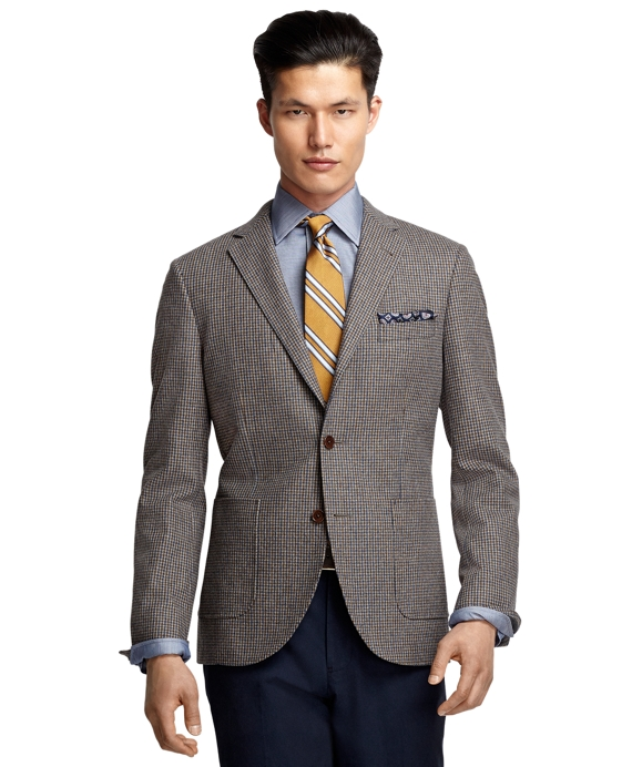 Milano Fit Brown Check Sport Coat Tan
