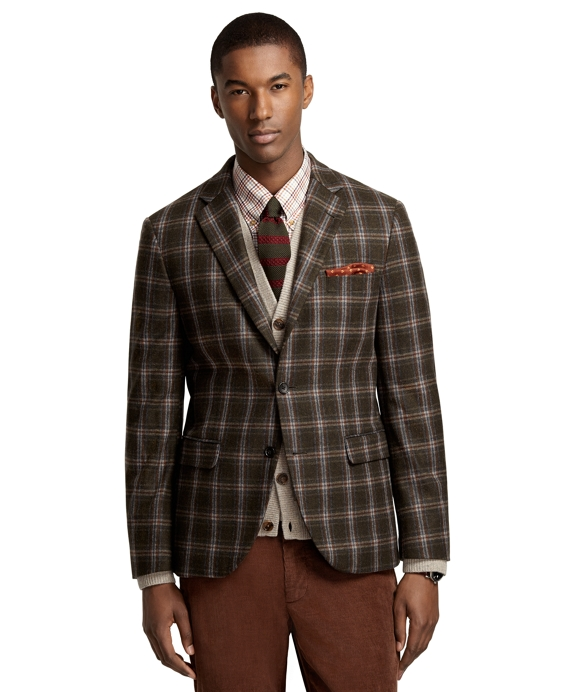 Milano Fit Windowpane Sport Coat Green