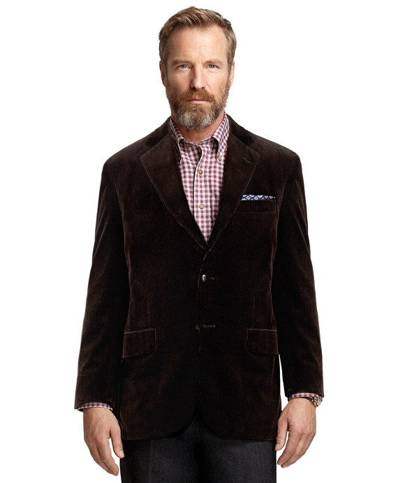 Madison Fit Corduroy Sport Coat Dark Brown