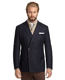 Regent Fit Double-Breasted Flannel Sport Coat