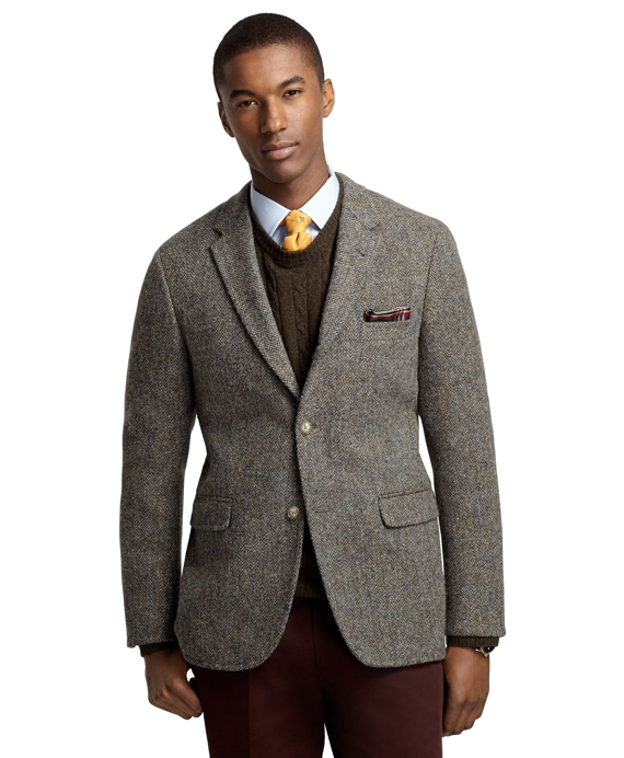 Cambridge Harris Tweed Crowsfoot Sport Coat Green