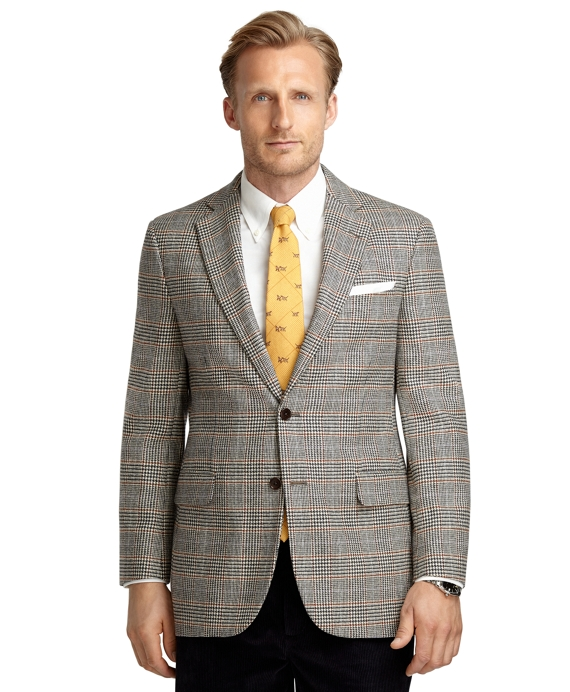 Madison Fit Large Plaid Sport Coat Black-White
