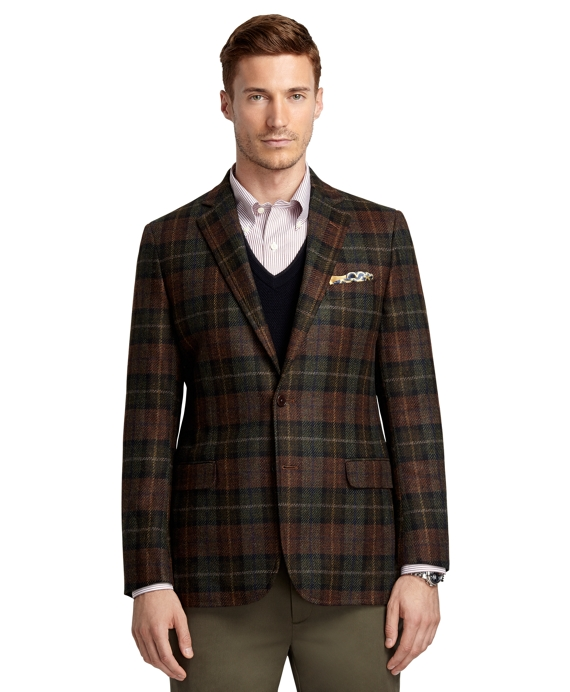 Fitzgerald Fit Large Plaid Deco Sport Coat Green