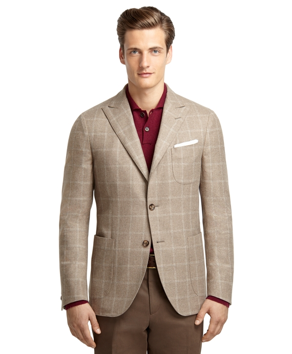 Windowpane Jacket Taupe