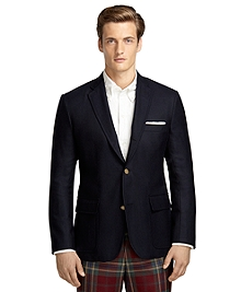Own Make Solid Cashmere 101 Hopsack Sport Coat