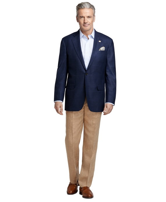 Men's Madison Fit Navy Plaid Saxxon Wool Sport Coat
