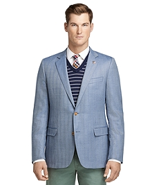 Fitzgerald Fit Saxxon Blue Herringbone Sport Coat