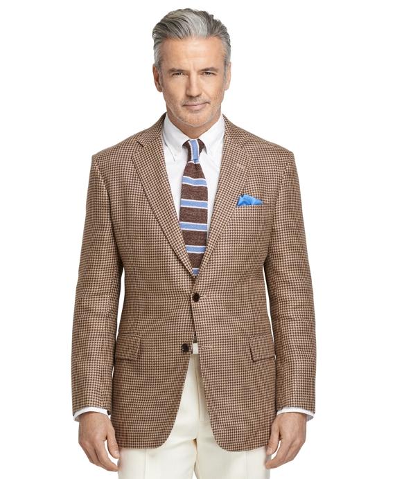Regent Fit Houndstooth Sport Coat Tan
