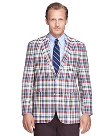 Madison Fit Madras Linen Sport Coat