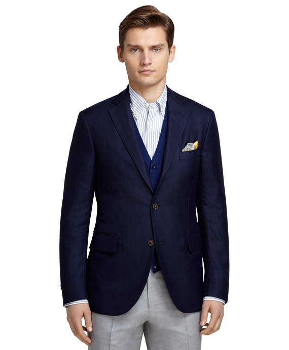 Men's Three-Button Navy Sport Coat
