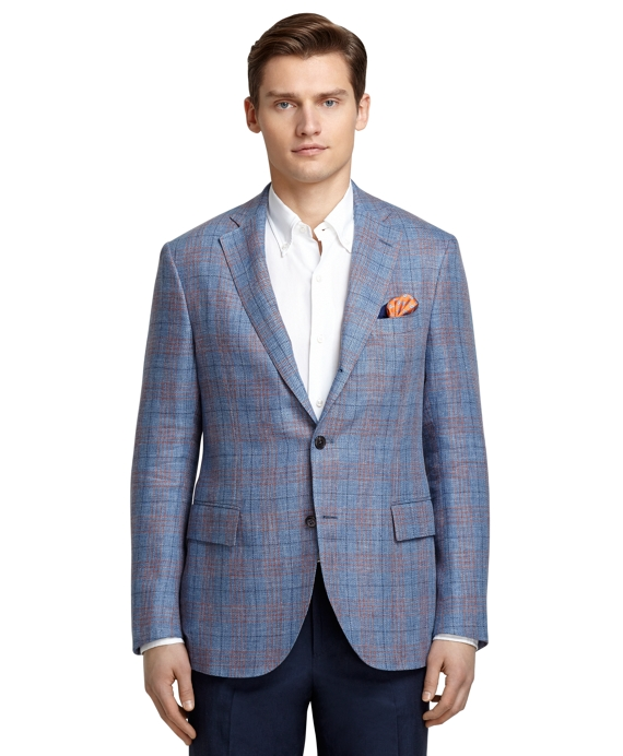 Blue and Red Plaid Sport Coat Blue-Red