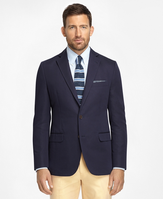 Fitzgerald Fit Cotton and Linen Sport Coat Navy