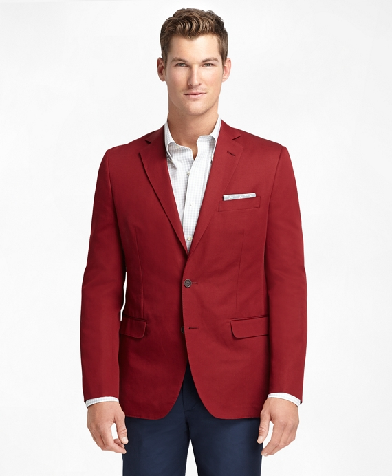 Fitzgerald Fit Cotton and Linen Sport Coat Red