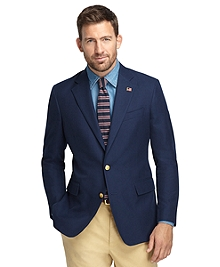 Regent Fit Dark Blue Cotton Sport Coat