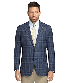 Regent Fit Blue Plaid Sport Coat