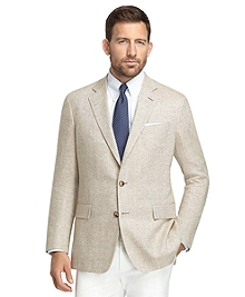 Regent Fit Tan and Cream Solid Matka Sport Coat