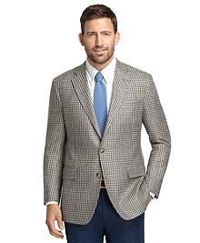 Regent Fit Green Check Matka Sport Coat