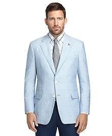 Regent Fit Blue Chambray Patch Sport Coat