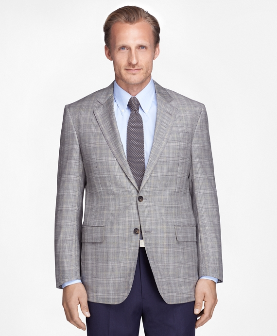 Madison Fit Plaid with Deco Sport Coat Black