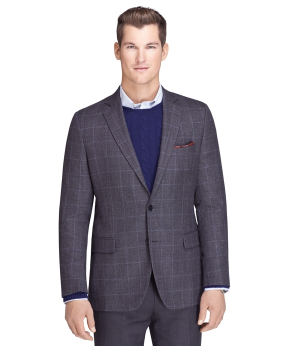 Fitzgerald Fit Tic with Windowpane Sport Coat Grey