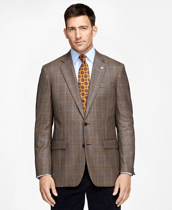 Madison Fit Saxxon Wool Tonal Check with Black Deco Sport Coat