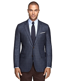 Fitzgerald Fit Saxxon Wool Windowpane Sport Coat