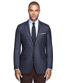 Fitzgerald Fit Saxxon Wool Windowpane Sport Coat