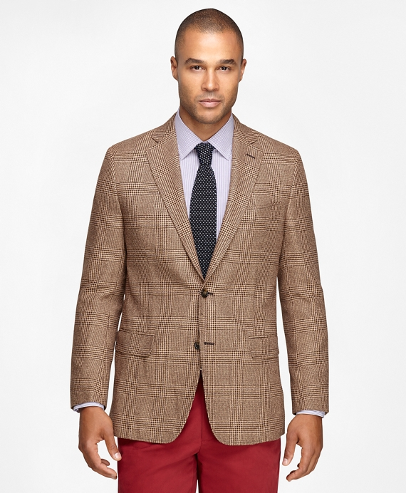 Fitzgerald Fit Large Plaid Sport Coat Tan
